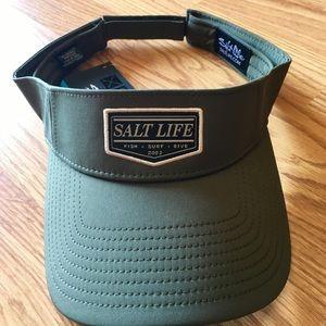 NWT Salt Life visor, hat olive green adjustable